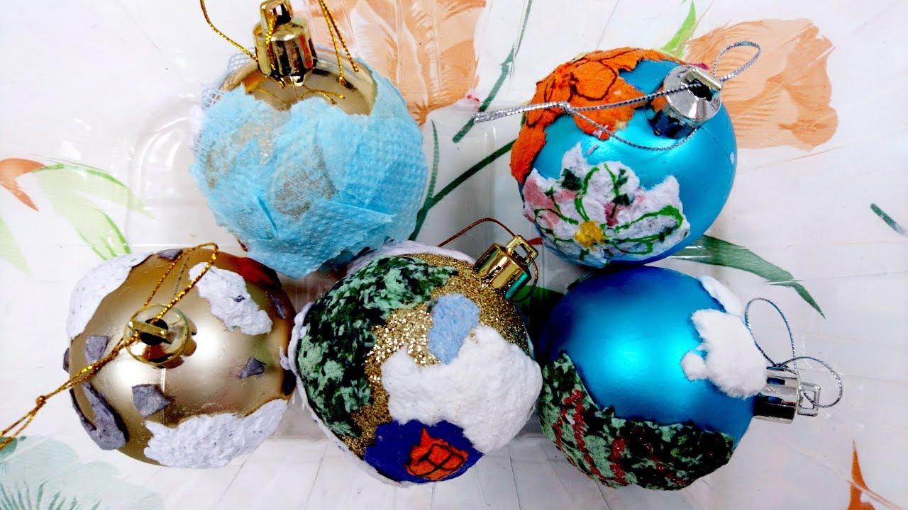 Мария Водинская Ёлочные шары из самодельной бумаги. Новогодние поделки с детьми