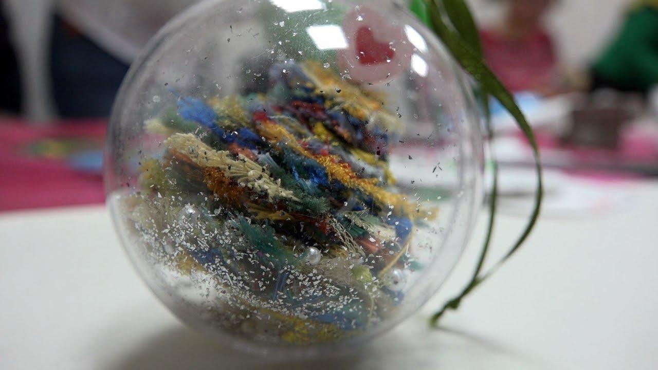 Анастасия Коломина Ёлочки из ткани в шаре-Новогодние поделки с детьми. Мастер-класс для волонтёров