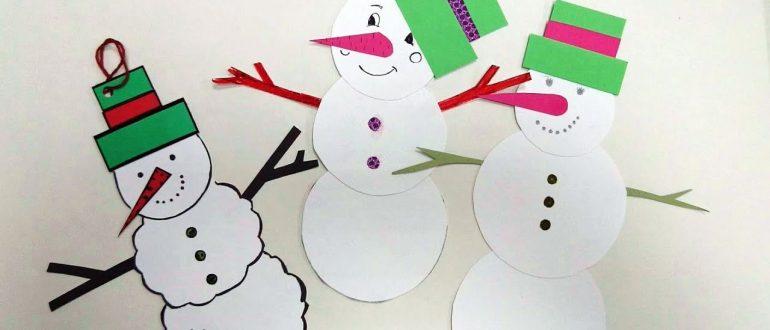 Анастасия Коломина Снеговики-приглашения-Новогодние поделки с детьми. Мастер-класс для волонтёров