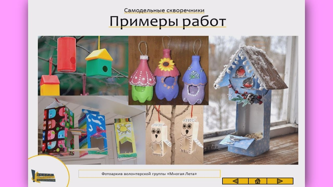 Анастасия Коломина-Делаем кормушки скворечники для птиц с детьми. Мастер-класс для волонтёров